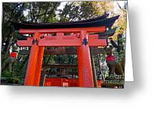 Kyoto Fushimi Shrine-4 Greeting Card
