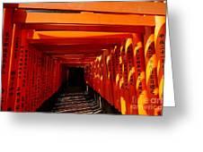 Kyoto Fushimi Shrine-5 Greeting Card