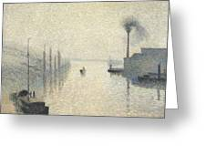 L Ile Lacroix. Rouen. The Effect Of Fog Greeting Card