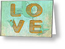 L O V E Between The Lines Greeting Card