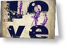 L O V E Crumbling Greeting Card