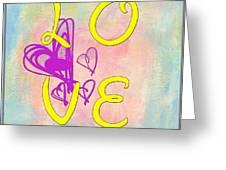 L O V E Disney Style Greeting Card