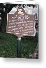 La-001 The Steamer New Orleans Greeting Card