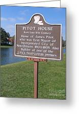 La-010 Pitot House Greeting Card