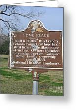La-022 Home Place Greeting Card