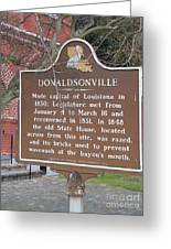 La-032 Donaldsonville Greeting Card