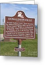 La-033 Donaldsonville Greeting Card