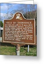 La-036 Ville De Thibodaux Greeting Card