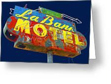 La Bank Motel Greeting Card