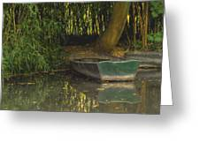 La Barque A Giverny Greeting Card
