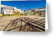 La Boca Graffiti Greeting Card