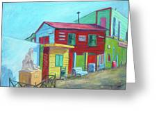 La Boca Morning I Greeting Card