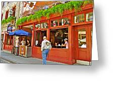 La Cage Aux Sports In Old Montreal-quebec Greeting Card