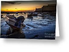 La Caleta Beach Cadiz Spain Greeting Card
