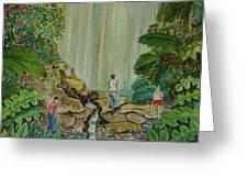 La Coco Falls El Yunque Rain Forest Puerto Rico Greeting Card