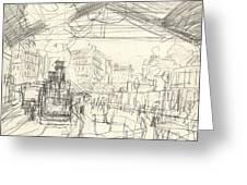 La Gare Saint Lazare Greeting Card