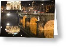 La Gran Madre E Ponte Umberto I Greeting Card