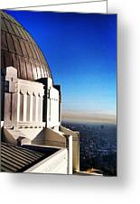 La Griffith Observatory Afternoon Greeting Card