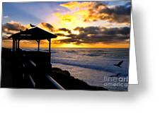 La Jolla At Sunset By Diana Sainz Greeting Card by Diana Sainz