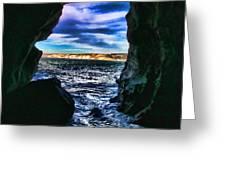 La Jolla Cave By Diana Sainz Greeting Card