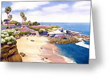 La Jolla Cove Greeting Card by Mary Helmreich