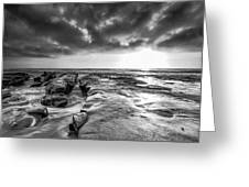 La Jolla In Black And White Greeting Card