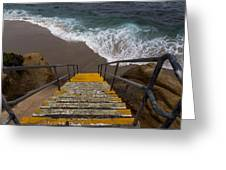 La Jolla Stairs 2 Greeting Card