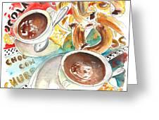 La Laguna Churros Y Chocolate Greeting Card