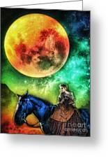 La Luna Greeting Card by Mo T