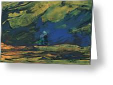 La Mancha De Noche Greeting Card