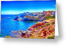 La Manga Seaside In Spain Greeting Card