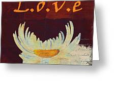 La Marguerite - Love Red Wine  Greeting Card