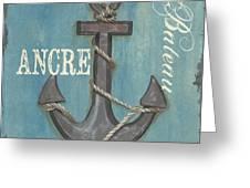 La Mer Ancre Greeting Card