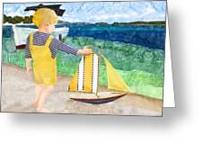 La Mer Greeting Card by Robin Morgan