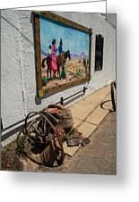 La Mesilla Outdoor Mural Greeting Card