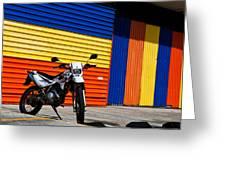La Motocicleta Greeting Card
