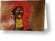 La Mujer De Africa  Greeting Card