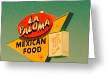 La Paloma Greeting Card