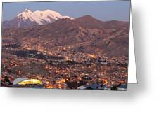 La Paz Skyline At Sundown Greeting Card