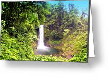La Paz Waterfall Costa Rica Greeting Card