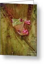 La Petite Grenouille Verte Greeting Card
