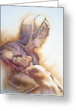 La Pieta By Michelangelo Greeting Card