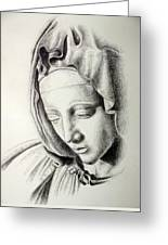 La Pieta Madonna Greeting Card