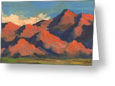 La Quinta Mountains Morning Greeting Card