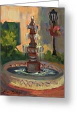 La Quinta Resort Fountain Greeting Card