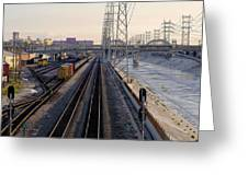 La River And Rr Greeting Card