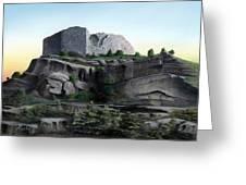 La Rocca De Monte Calvo Greeting Card
