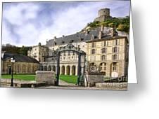 La Roche Guyon Castle Greeting Card by Olivier Le Queinec