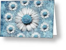 La Ronde Des Marguerites - Blue V02 Greeting Card by Variance Collections
