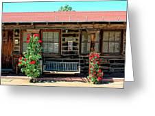 La Rosa Motel Pioneer Town Greeting Card